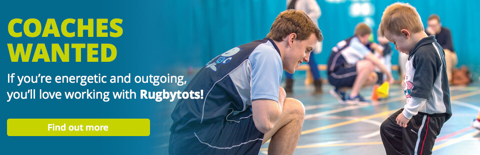 Rugbytots coaching opportunities banner