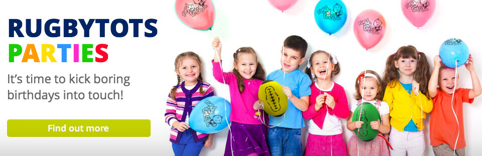 Rugbytots kids rugby party banner